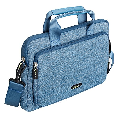 Surface Pro 4 Briefcase Bag, Evecase Suit Fabric Multi-functional Neoprene Briefcase Case Tote Bag - Blue For Microsoft Surface Pro 3 and Surface Pro 4 Tablet PC