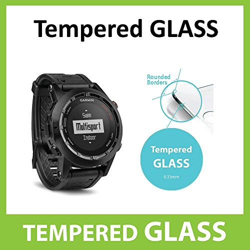Garmin Fenix 2 GPS Tempered Glass INVISIBLE Screen Protector FRONT Shield Scratch Proof Protection Exclusive to ACE CASE