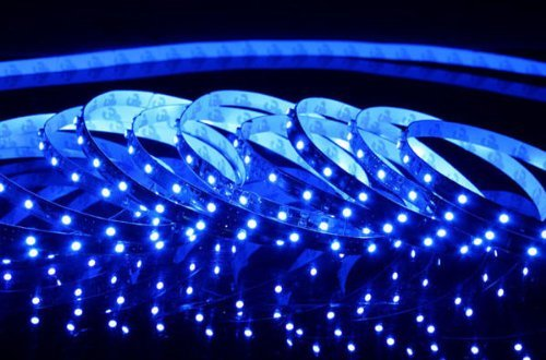 Triangle Bulbs® Blue LED Strip light, Waterproof LED Flexible Light Strip 12V with 300 SMD 3258 LED, 16.4 Ft / 5 Meter