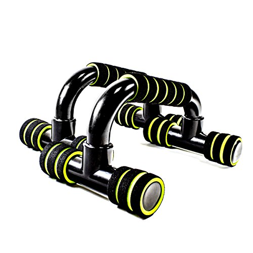 Sportly Push Up Bar - Set of 2 - Incline Pushup Stands for Home Fitness Training - Gymnastics Inspired Asymmetric Bars Allow Greater Range of Motion - Stable, Comfortable Grips - Build Strength Faster