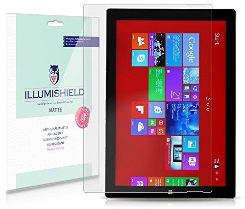 iLLumiShield - Microsoft Surface Pro 3 Anti-Glare (Matte) HD Clear Film / Anti-Bubble & Anti-Fingerprint / Premium Japanese High Definition Invisible Crystal Shield - Free LifeTime Warranty - [2-Pack] Retail Packaging