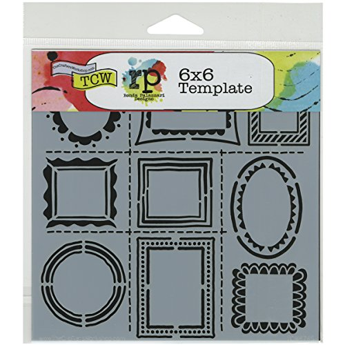 Crafters Workshop Hand Drawn Frames Crafter's Workshop Template, 6-Inch by 6-Inch