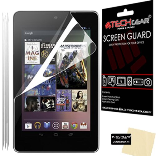 [Pack of 3] TECHGEAR® GOOGLE NEXUS 7 Tablet (Previous Generation) CLEAR LCD Screen Protectors - NOT FOR NEXUS 7 2013 Edition