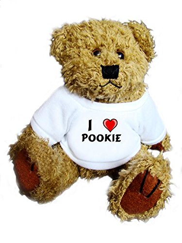 Teddy Bear with I Love Pookie t-shirt