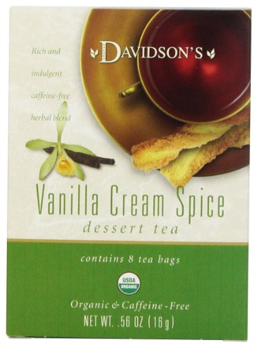 Davidson's Tea Vanilla Cream Spice, 8-Count Tea Bags (Pack of 12)