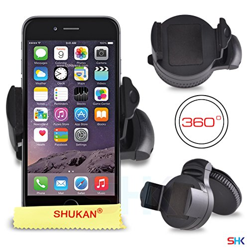 Apple iPhone 6 360° Degrees Mini Windscreen Car Mount Holder Cradle BY SHUKAN