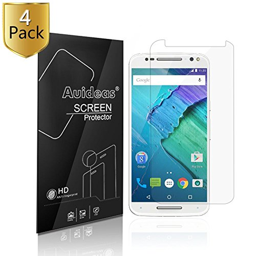 Motorola Moto X Pure Edition /Moto X Style Screen Protector,Auideas (4-Pack) Screen Protector Film HD Clear Retail Packaging for Motorola Moto X Pure Edition / X Style (HDClear)
