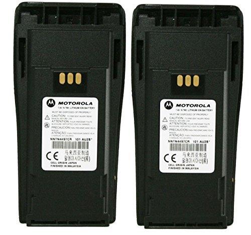 MOTOROLA Orignal OEM NNTN4497CR 2 Pack 7.2 Volts LI-ION 1.8Ah High Capacity Battery for Motorola CP-200 Walkie Talkie CP200 EP-450 EP450 CP-150 CP-250 CP150 CP250 PR400 PR-400 Original Motorola Battery