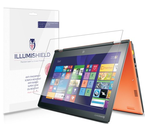iLLumiShield - Lenovo Yoga 11S Screen Protector Japanese Ultra Clear HD Film with Anti-Bubble and Anti-Fingerprint - High Quality (Invisible) LCD Shield - Lifetime Replacement Warranty - [2-Pack] OEM / Retail Packaging