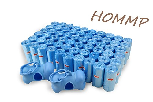 HOMMP Poop Bags-Dog Waste Bags, 60 Rolls /1200 Bags, Unscented + 2 Dispensers