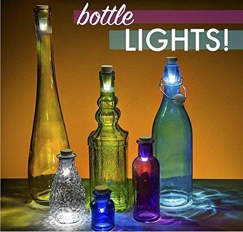HOTOR Wine Bottle Light Cork - LED USB Powered (6pack)