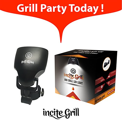 BBQ Grill LED Light 360-degree Swivel, Touch Sensitive, Heat-Resistant ABS Military Grade Material, Weather Resistant, Handle Mount Versatile LED Barbecue /Pit Light for Outdoor Grilling.