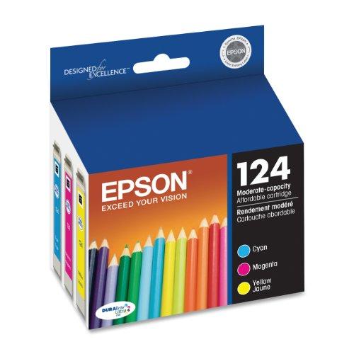 Epson DURABrite T124520 Ultra 124 Moderate-capacity Inkjet Cartridge Color Multipack -1 Cyan/1 Magenta/1 Yellow