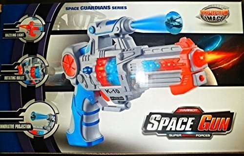 Galactic Space Police Pistol Gun Toy for Kids with Spinning Lights,projection Image & Blaster Sounds
