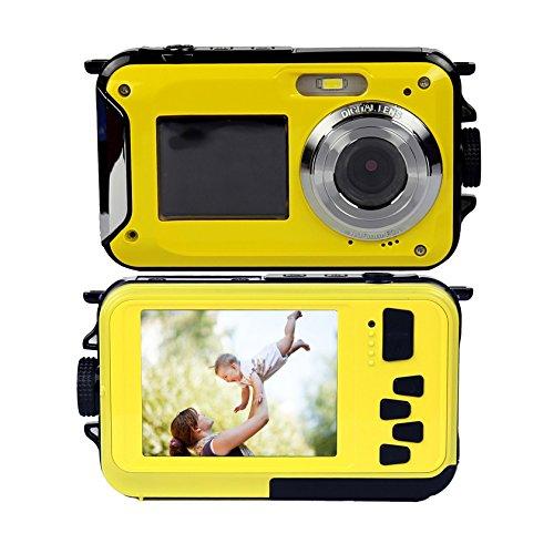 PowerLead Gapo G050 Double Screens Waterproof Digital Camera 2.7-Inch Front LCD Easy Self Shot Camera