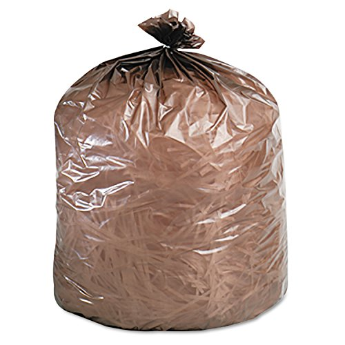 Stout EcoDegradable Bags, Extra Heavy Duty, 39 Gallons, 1.1 Milliliters, 33 x 44, Brown, 40/Carton (G3344B11)