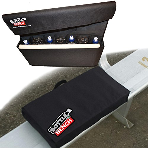 Bleacher Seat. Softest, Lightest. Extra Wide. Exclusive AIR Cushion Comfort that keeps your seat WARM or COOL - uses empty water bottles & foam. Drink carrier AND Seat Cushion.