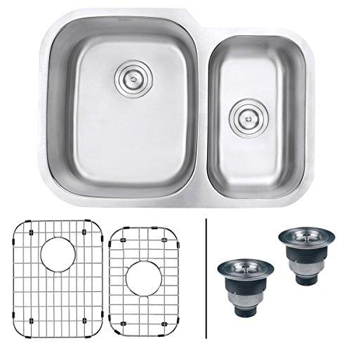 Ruvati RVM4500 Undermount 16 Gauge 29 Kitchen Sink Double Bowl