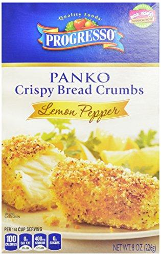 Progresso Lemon Pepper Panko Crispy Breadcrumbs, 8-Ounce (Pack of 6)