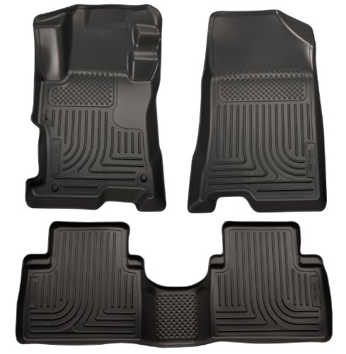 Husky Liners 99871 WeatherBeater Black Front and 2nd Seat Floor Liner