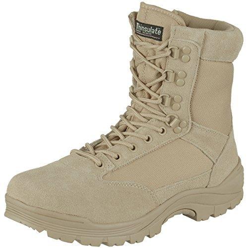Mil-tec Khaki Tactical Army Boots with YKK Zipper , Size- UK Size 7 (Euro 41)