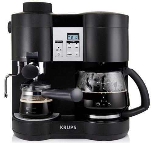 KRUPS XP1600 Coffee Maker and Espresso Machine Combination, Black