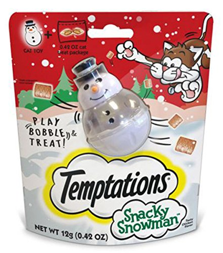 Temptations Snacky Snowman Cat Toy and Cat Treats