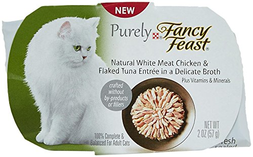 Fancy Feast Appetizers Natural White Meat Chicken and Flaked Tuna Cat Food, 2-Ounce Pouch, Pack of 10