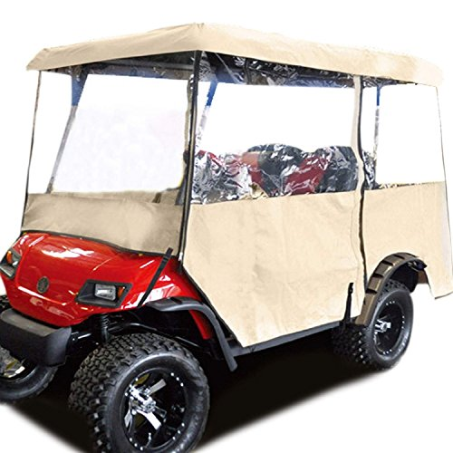 Ancheer Driving Enclosure Golf Cart Rain Covers Travel Club Car Covers For 2 Passenger 2 Seater 4-sided