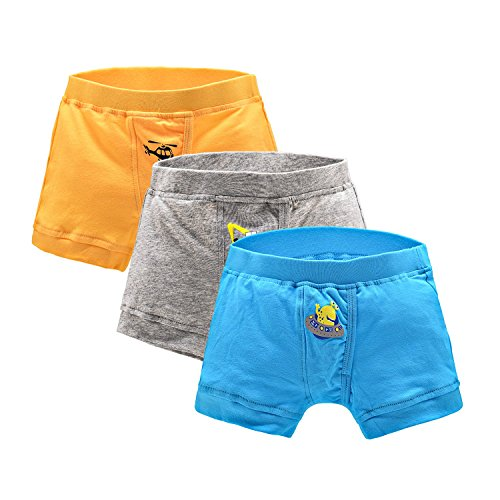 Aaronano Boys' 3-Pack Colourful Cotton Briefs,3Years-12Years