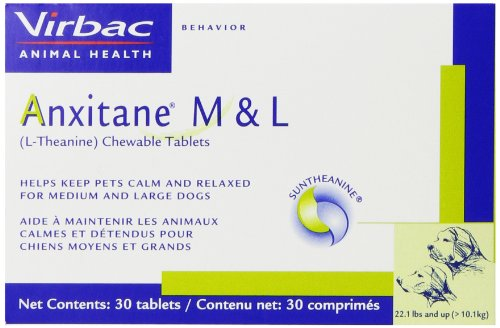 Virbac Anxitane Tablets, Medium/Large Dog, 100 mg, 30 Count