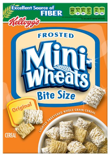 Frosted Mini-Wheats Bite-Size Cereal, 18-Ounce Boxes (Pack of 4)