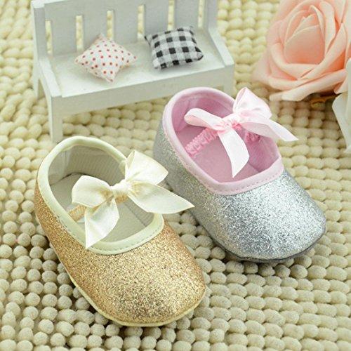 DZT1968® Baby Girl Soft Sole Bowknot Bling Bling Shoes Prewalker Socks Sneakers