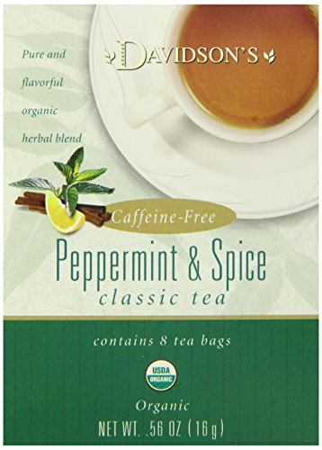Davidson's Tea Peppermint and Spice, 8-Count Tea Bags (Pack of 12)