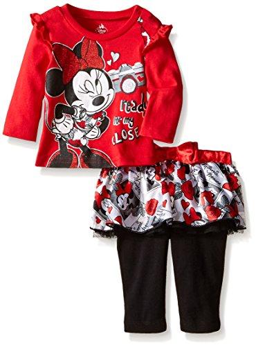 Disney Baby Girls' Minnie Mouse Skegging Set with Printed Tutu