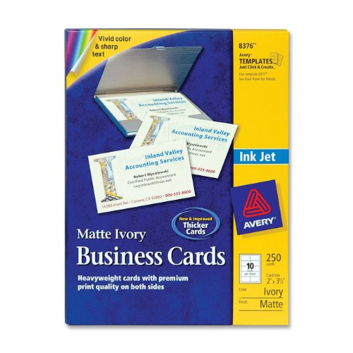 Avery 2 x 3.5 Ink Jet Business Cards (8376)