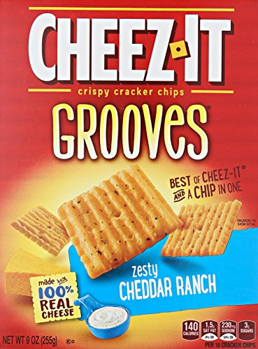 Cheez-It Grooves Zesty Cheddar Ranch, 9 Ounce