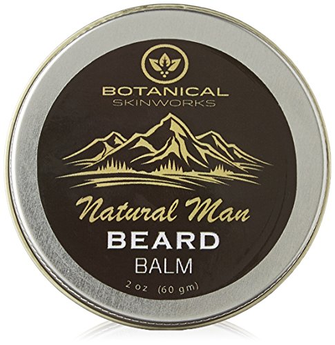 Natural Man Beard Conditioning Balm with Jojoba and Argan Oils - All Natural Beard Conditioner by Botanical Skin Works