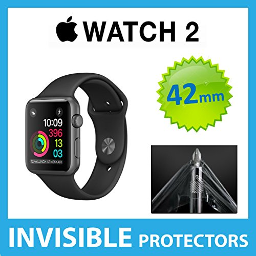 Apple Watch SERIES 2 iWatch (42mm Size) Front INVISIBLE Screen Protector (Front Shield included) Military Grade Protection Exclusive to ACE CASE