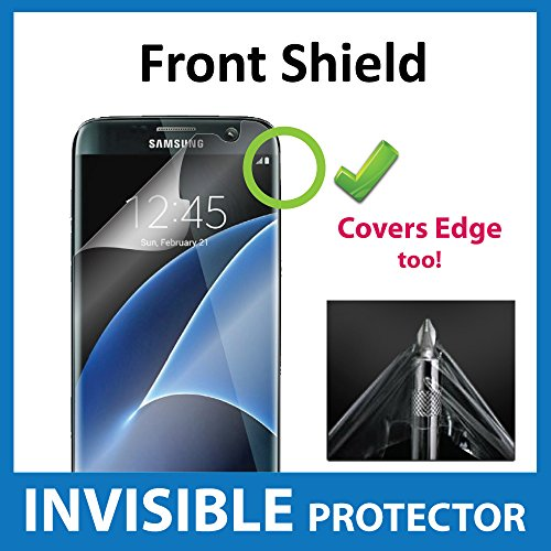 Samsung Galaxy S7 Edge Front INVISIBLE Screen Protector Film (Front Shield included) Military Grade Protection Exclusive to ACE CASE