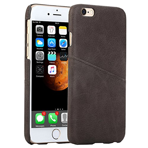 Airsspu iPhone 6s Case, iPhone 6 Wallet Case,Ultra Slim Protective Wallet,Credit Card ID Holders Case Leather Wallet Cover for iPhone 6s/6 4.7 Inch-Brown