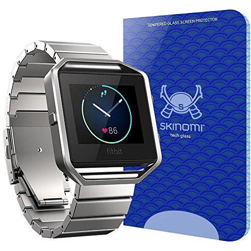 Fitbit Blaze Screen Protector, Skinomi Tech Glass Screen Protector for Fitbit Blaze Clear HD and 9H Hardness Ballistic Tempered Glass Shield