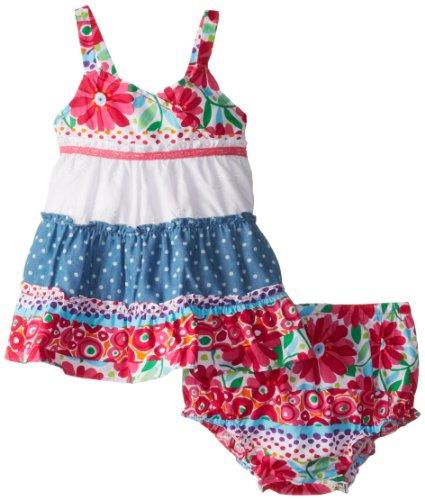 Sweet Heart Rose Baby Girls' Sleeveless Multi Print Sundress