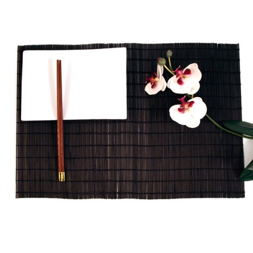 Bamboo Twig Placemats (set of 4) - Black