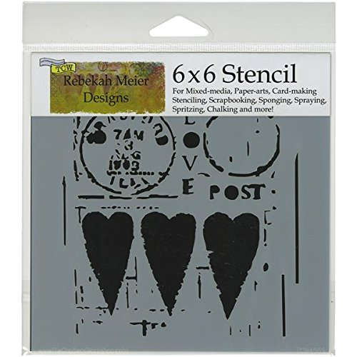 Crafters Workshop Template, 6 by 6-Inch, Love Post