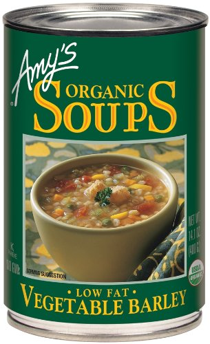 Amy's Organic Vegetable Barley Soup, Low Fat, 14.1-Ounce Cans (Pack of 12)