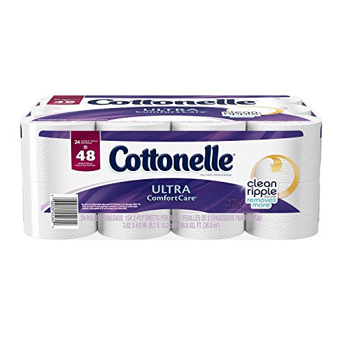 Cottonelle Ultra Comfort Care Double Roll Toilet Paper, 154 Sheets, 24 Count