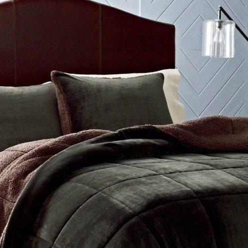 Eddie Bauer Premium Fleece Comforter Set, King, Pine Green