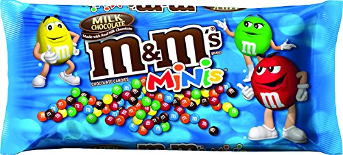 M&M's, Milk Chocolate Minis, Chocolate Candies, 10.8-ounce Bag (Pack of 6)