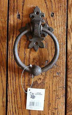Rustic Fancy Ring Front Door Knocker Heavy Cast Iron Home Decorator Towel Bar